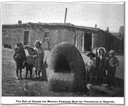 The Sort of Houses the Mexican Employes Built for Themselves at Segundo, Camp and Plant 2.15 (11 October 1902)