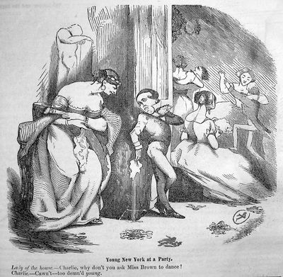 Young New York at a Party, Yankee Notions 1:327, November 1852