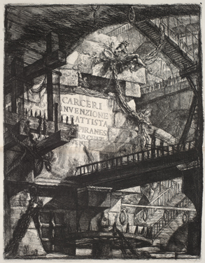 Frontispiece to Piranesi's Carceri, Steedman Exhibit, St. Louis Public Library