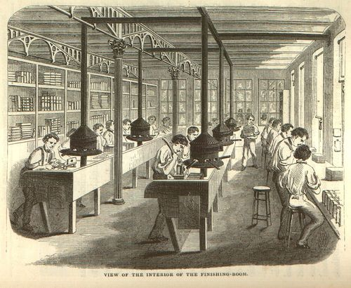 View of the Interior of the Finishing Room, in Jacob Abbott, 'The Harper's Establishment, or How the Story Books Are Made'