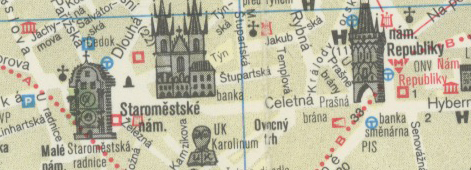 Map of Prague, 1987