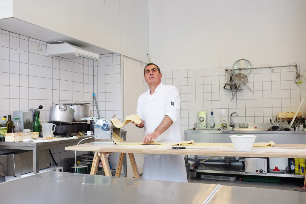 Making fresh pasta, Salvatorica, Amsterdam