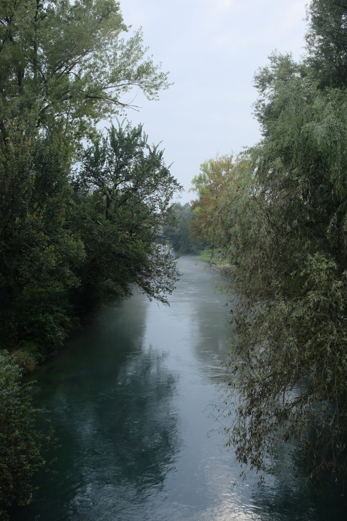 View from a bridge, Via San Marco, Pordenone