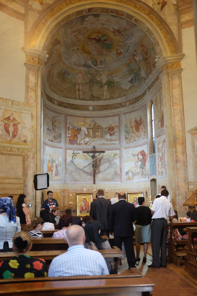 A christening at the Santissima Trinita, Pordenone
