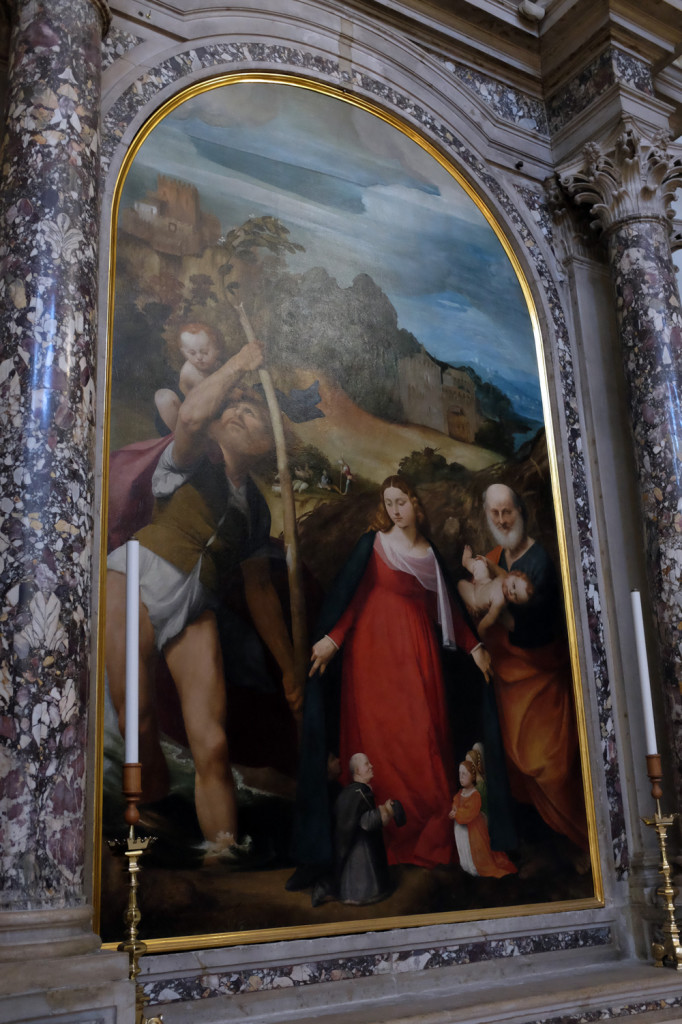 A painting by Pordenone, in the Pordenone cathedral