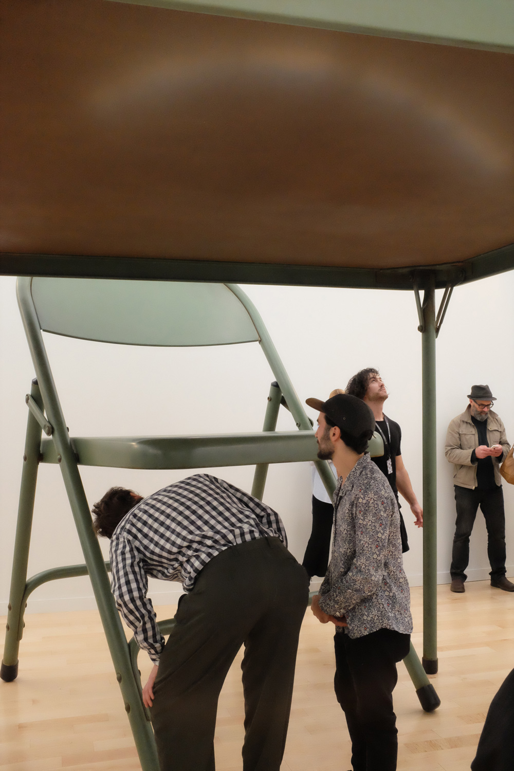Robert Therrien, 'No title (folding table and chairs, green),' 2008, Gagosian gallery