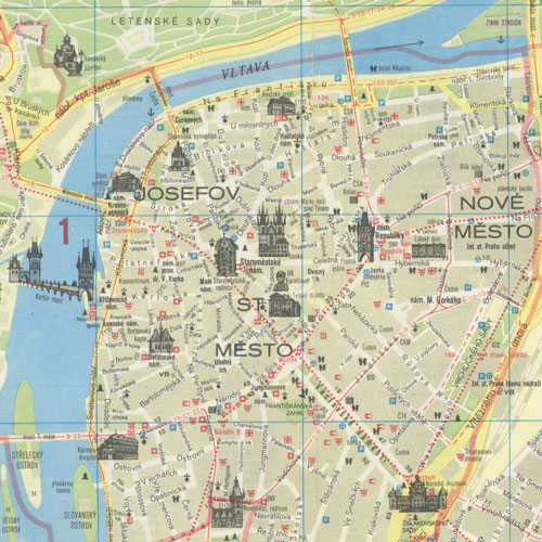 Map Of Prague A map of Prague, 1987 – Steamboats Are Ruining Everything Map Of Prague