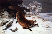 Courbet, Fox in the Snow