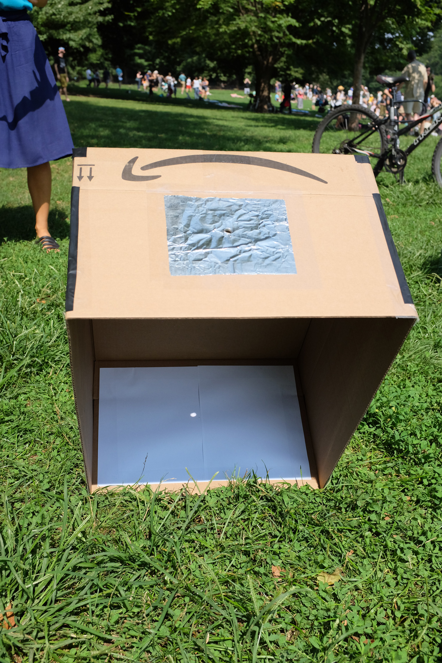 Large pinhole camera, #eclipse2017