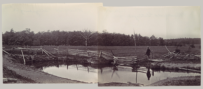 Mathew B. Brady, Wheatfield in Which General Reynolds Was Shot, July 1863, Metropolitan Museum of Art 33.65.391, 33.65.352.