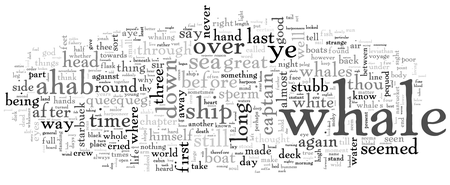 Melville, Moby-Dick, top 365 words