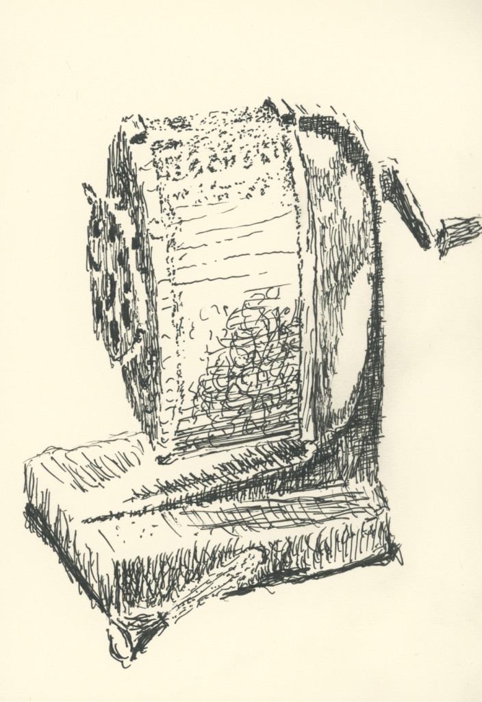 Pencil sharpener (drawing by Caleb Crain)