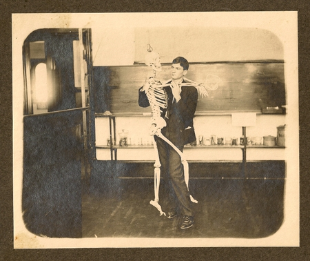 My grandfather and a skeleton