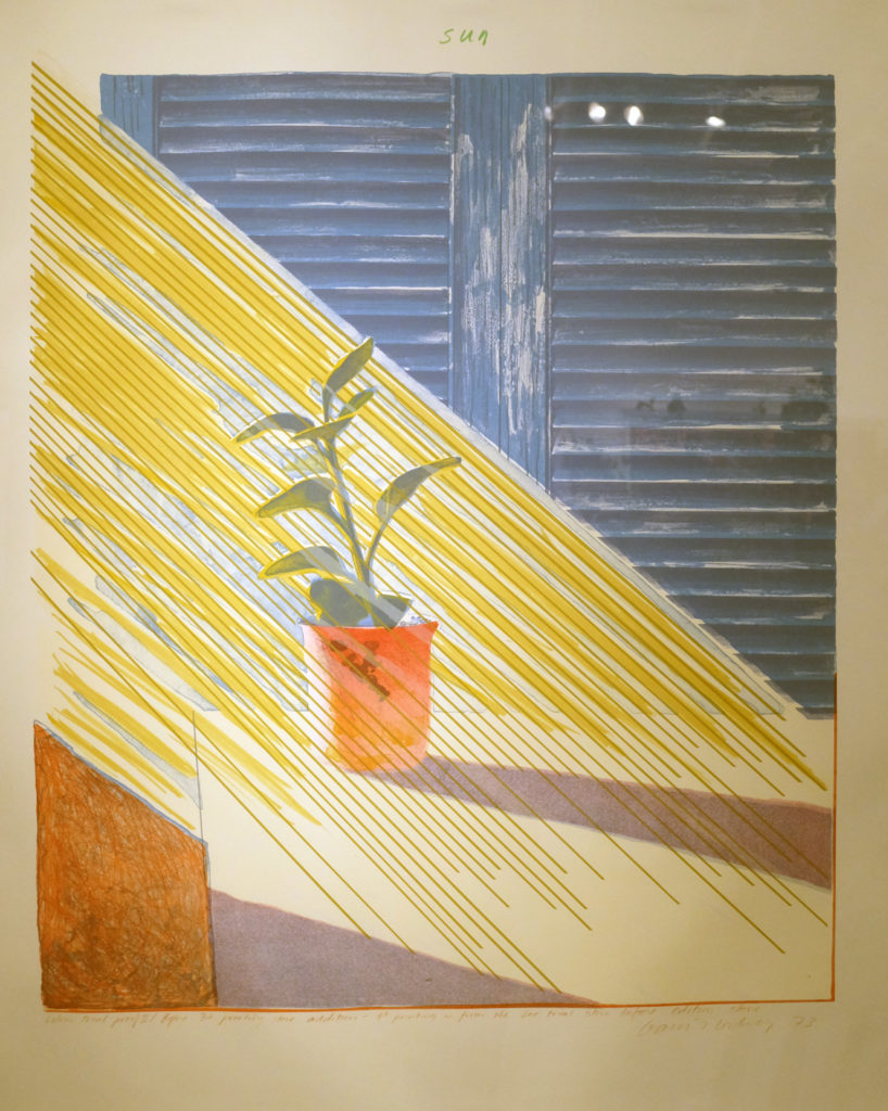 David Hockney, Weather Series: Sun State I, 1973. Lyndsay Ingram Gallery