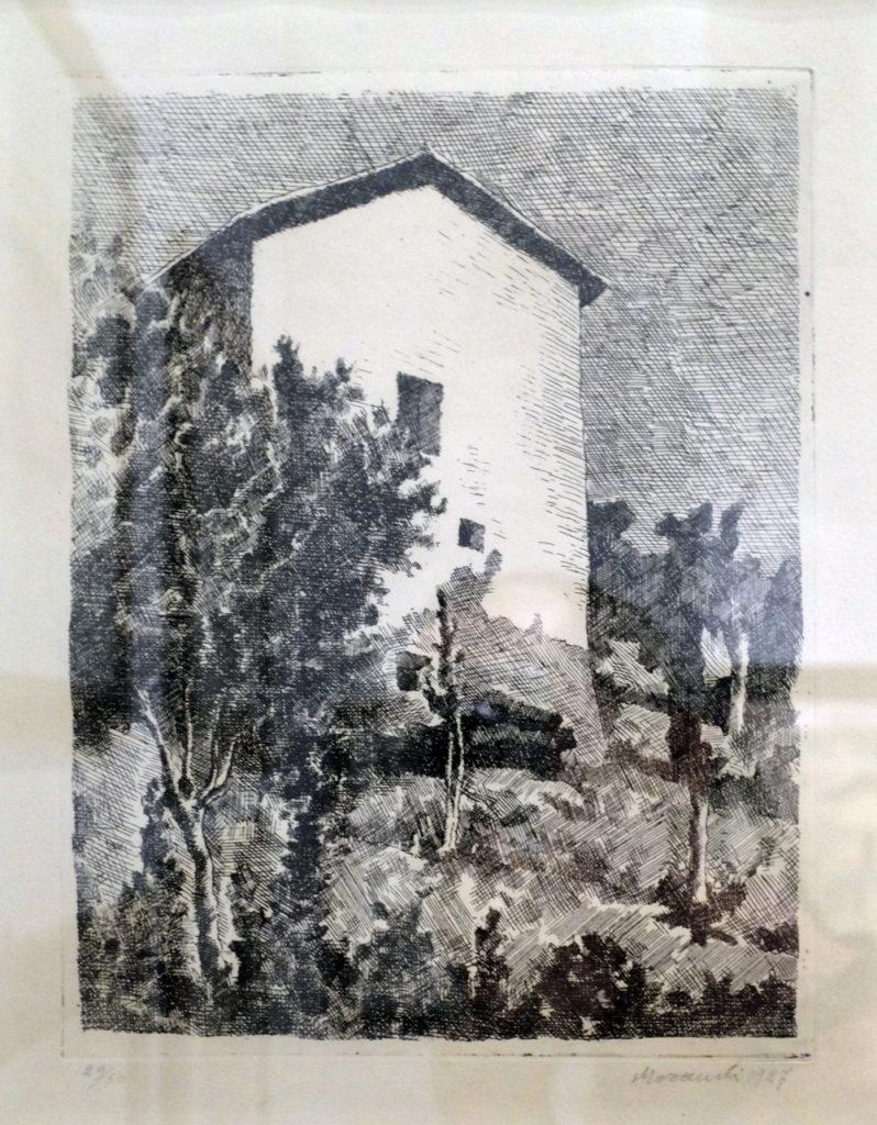 Giorgio Morandi, Paesaggio (Casa a Grizzana), 1927. Galleria d'Arte Maggiore