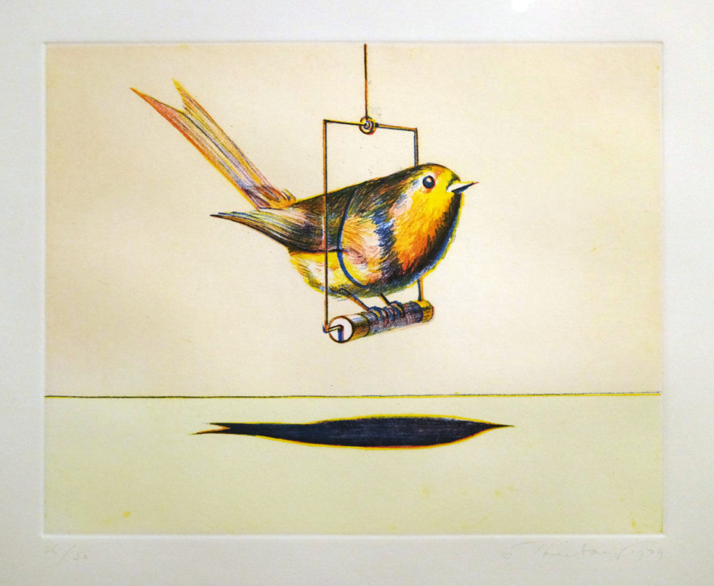 Wayne Thiebaud, Bird, 1979. Leslie Feely Gallery